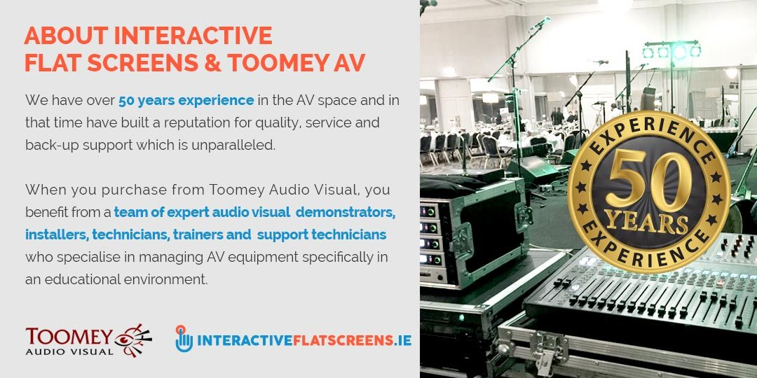 About Interactive Flat Screens and Toomey Audio Visual