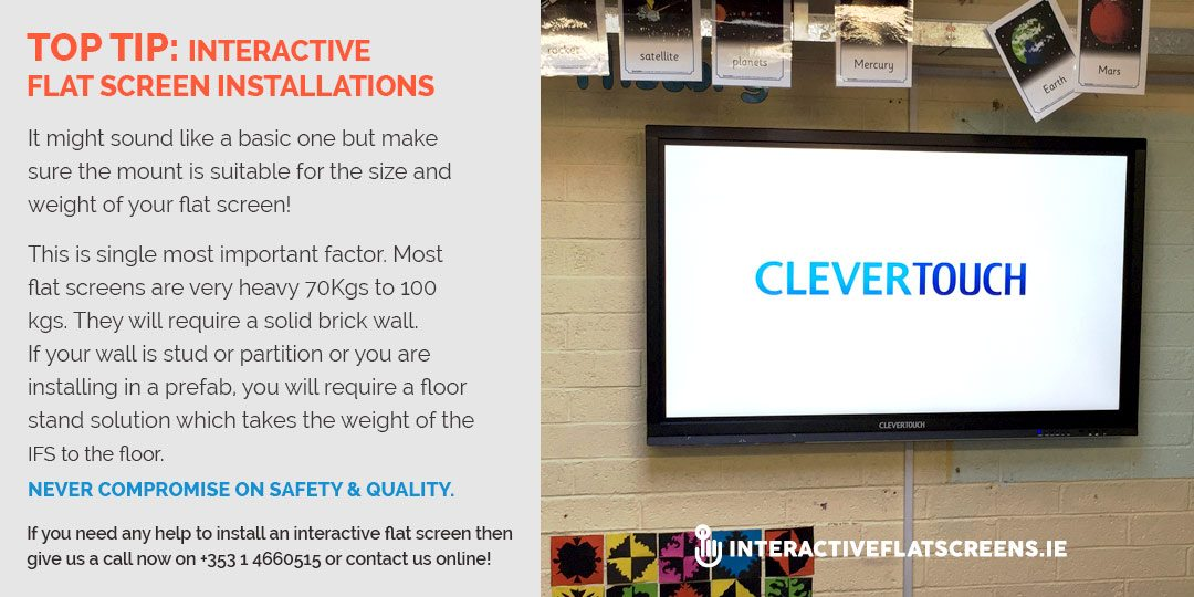 Interactive Flat Screen Installation Tip
