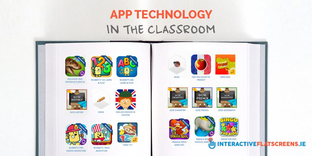 App Technology in the Classroom - Interactive Flat Screens Ireland