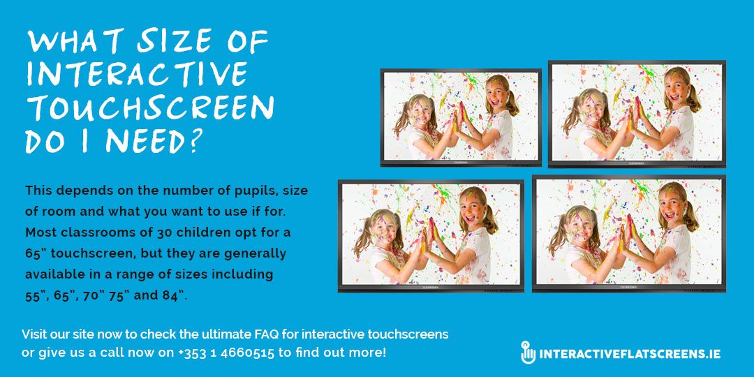 What Size of Interactive Touchscreen Do I Need - Interactive Flat Screen FAQ