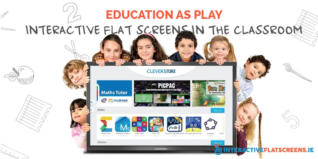 Education as Play Interactive Flat Screens In the Classroom