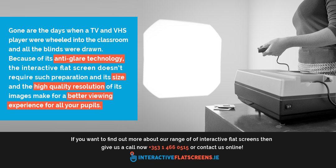 Interactive Flat Screens Instead of Projectors