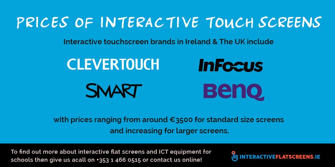 Prices of Interactive touch screens - Buyers Guide to Classroom Technology