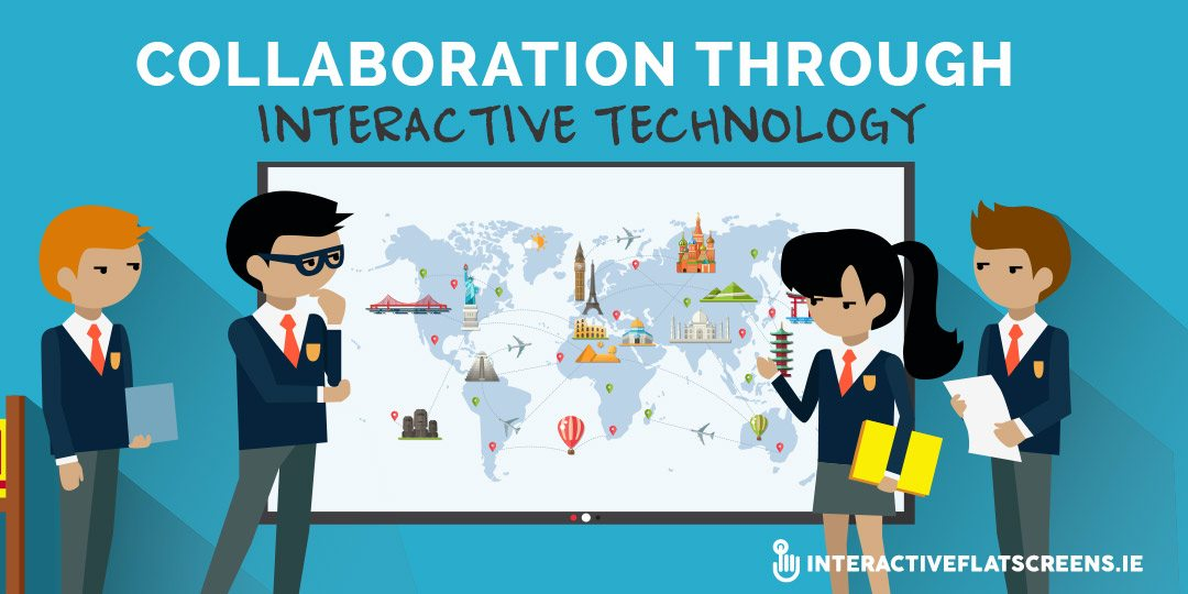 collaboration-through-interactive-technology-interactive-flat-screens-ireland