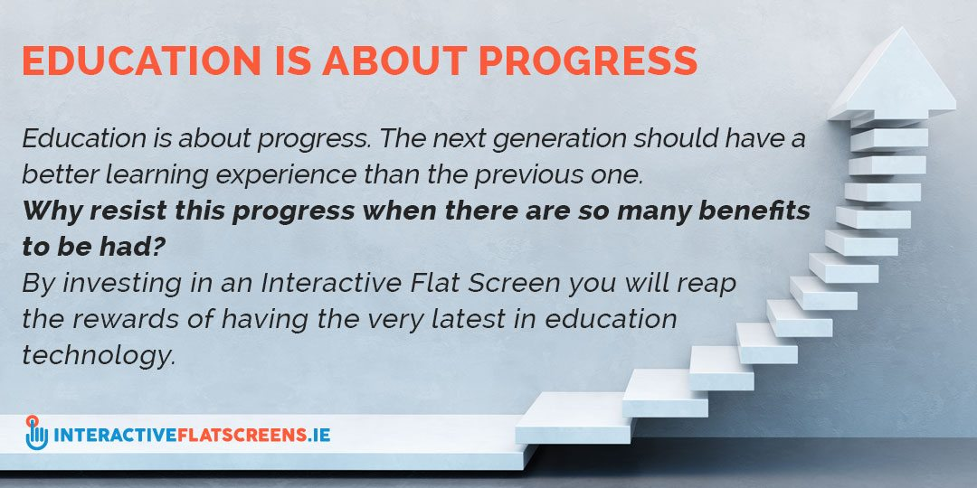Education Is About Progress - Interactive Flat Screens