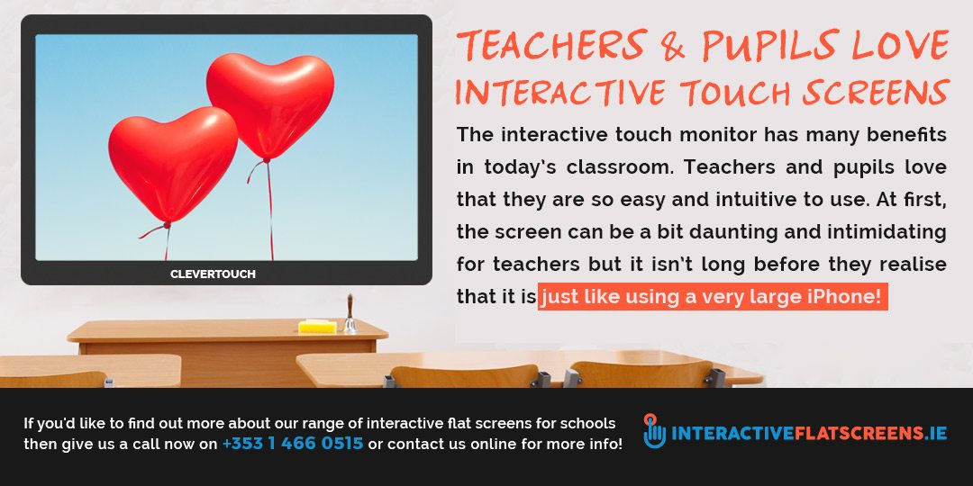 Teachers Love Interactive Touch Screens