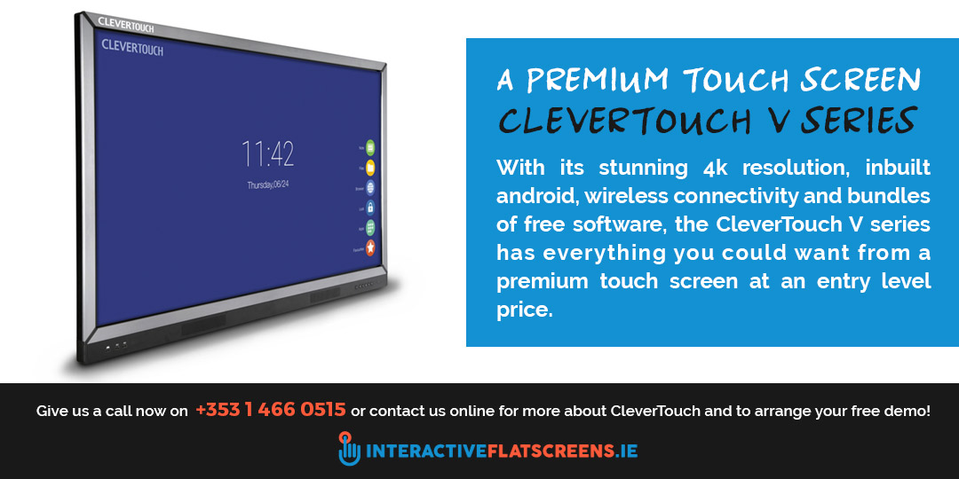 CleverTouch V Series Interactive Touch Screen
