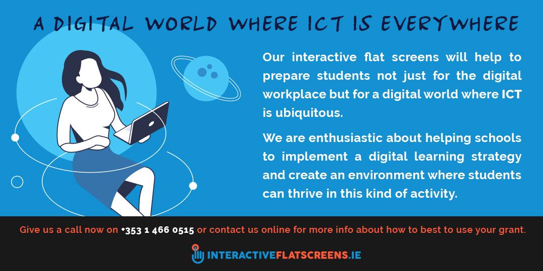 Digital ICT World - Interactive Flat Screens Ireland
