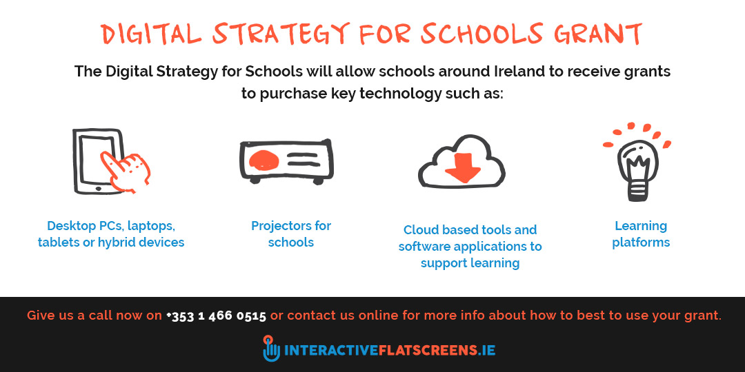 Digital Strategy for Schools Grants - Interactive Flat Screens Ireland