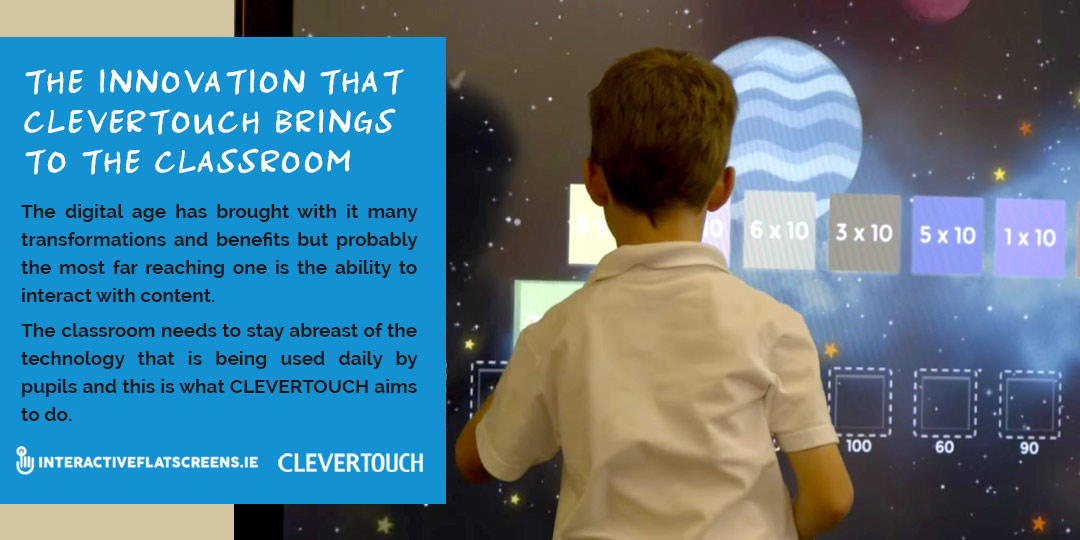 Clevertouch Interactive Flatscreen Innovation for for Primary Schools Ireland