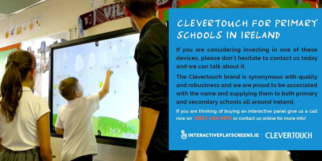 Clevertouch for Primary Schools in Ireland - Interactive Flat Screens