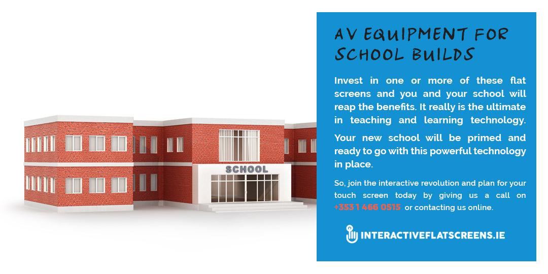 AV Equipment - New School Building - Interactive Flatscreen - Ireland