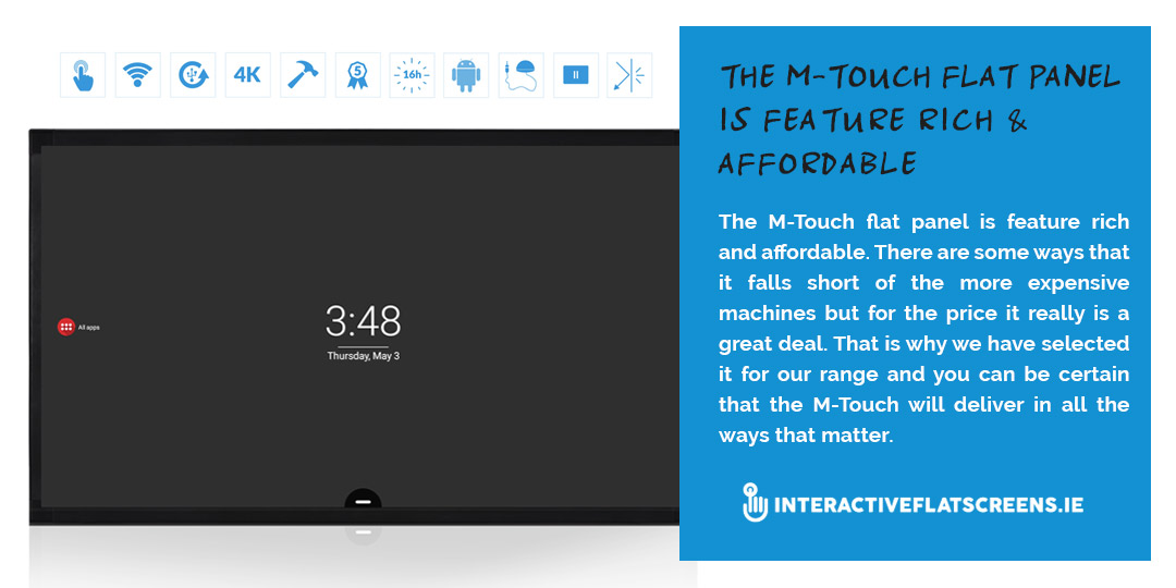 M-Touch Interactive Flat Screen for Schools Ireland