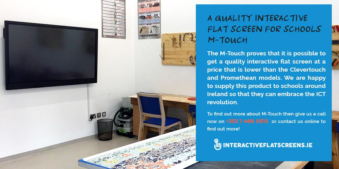 M-Touch Interactive Flatscreen Schools - Ireland