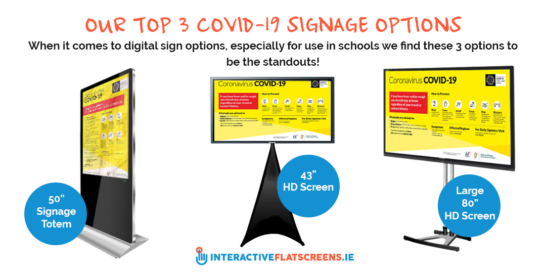 Our Top COVID-19 Signage Options for Schools in Ireland - Interactive Flatscreens