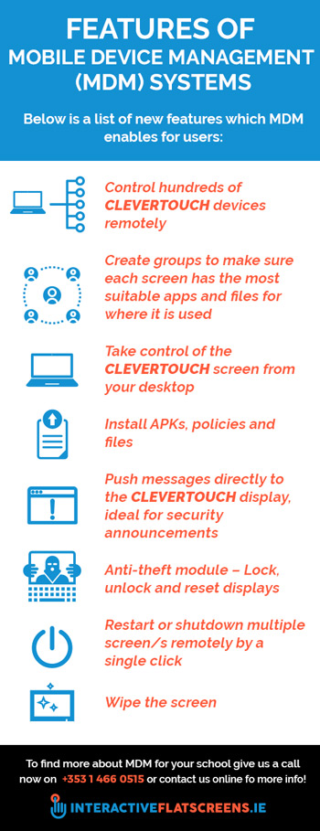 Mobile Device Management Features - Clevertouch - Interactive Flatscreens Schools - Ireland