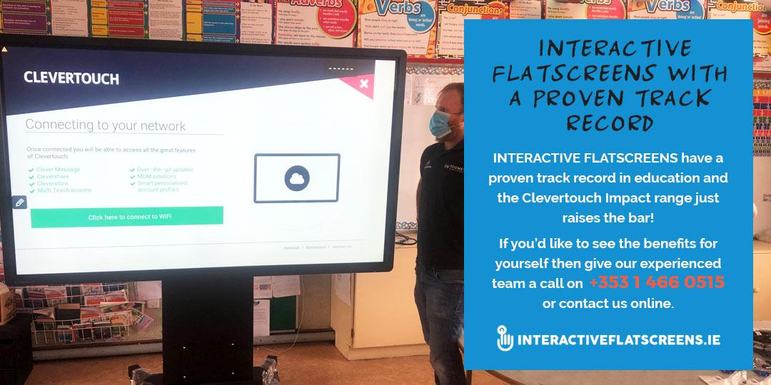 Interactive Flatscreen Ireland - Clevertouch Supplier Irish Schools