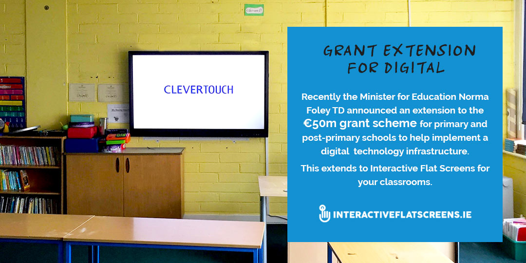 Grant Scheme Primary School - Minister Education Ireland - Interactive Flatscreens