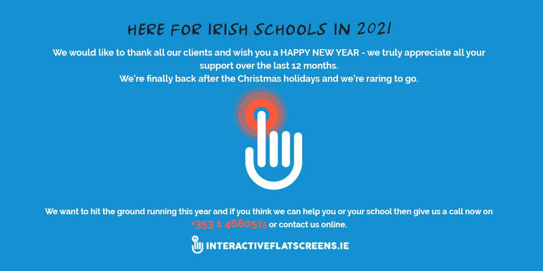 Interactive Flatscreen Irish Schools 2021
