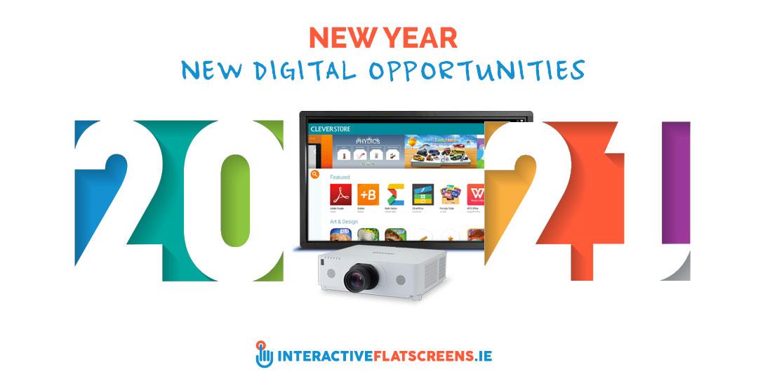 New Year - New Digital Opportunities - Interactive Flatscreens