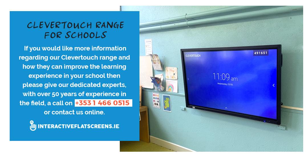 Clevertouch Range Irish Schools - Interactive Flatscreens
