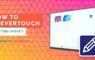 How Clevertouch - Floating Widget - Interactive Flatscreen Schools - Ireland