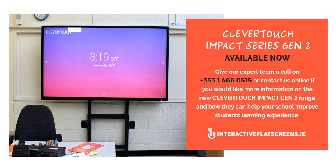 Clevertouch Impact Irish Schools - Interactive Flatscreen